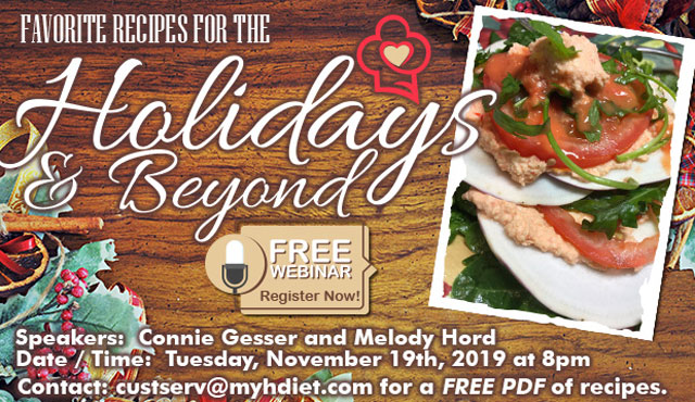 Favorite Recipes for the Holidays and Beyond Webinar